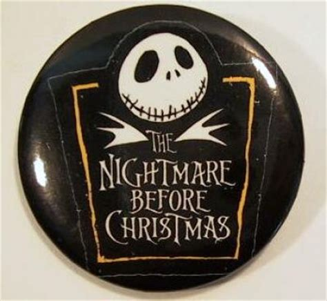Jack Skellington and Nightmare logo button from our
