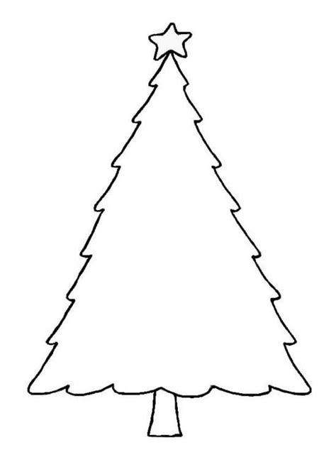 free clipart christmas tree outline - Clipground